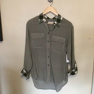 NWT | equipment Reese gingham buffalo check shirt